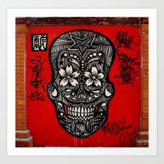graffiti skull  Art Print