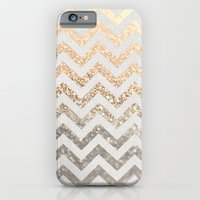 iPhone Cases featuring GOLD & SILVER  by Monika Strigel