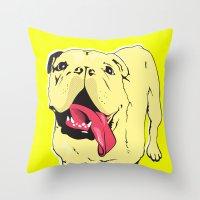 Greta The Bulldog Throw Pillow