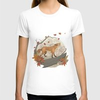 rabbit T-shirts featuring Fox and rabbit by Laura Graves