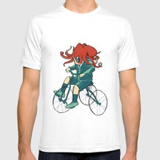 Little Cthulhu White SMALL Mens Fitted Tee