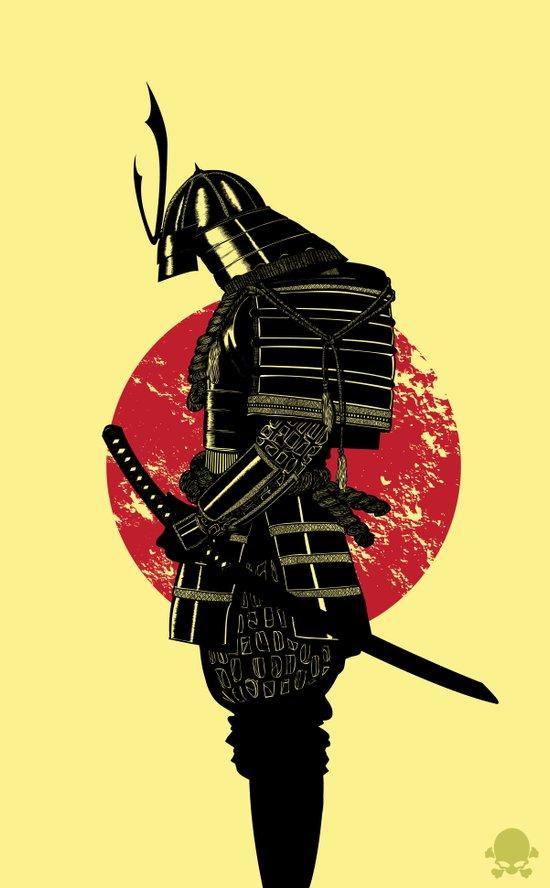 The Headless Samurai  Canvas Print
