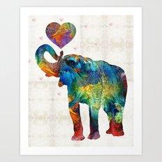 Colorful Elephant Art - Elovephant - By Sharon Cummings Art Print