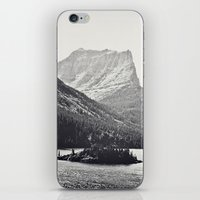 Glacier Mountain Lake Bl… iPhone & iPod Skin