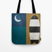 Board & Moon Tote Bag