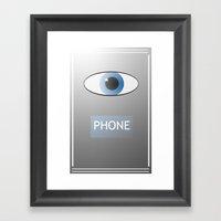Eye Phone Framed Art Print
