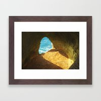 A window to the sea Framed Art Print