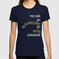 YOU ARE MY SUNSHINE Womens Fitted Tee Navy SMALL