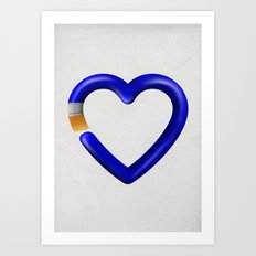 Love to paint Art Print
