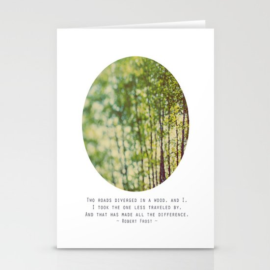 Two Roads Stationery Card