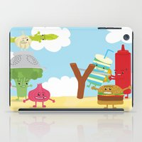 Vegetables Vs. Fast Food iPad Case