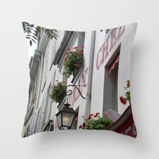 Chez Eugène Montmartre Throw Pillow