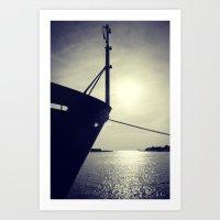 Lake Michigan Ship Art Print