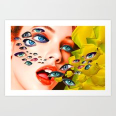 What You looking at? (collage) Art Print