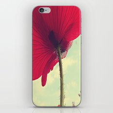 Red Poppy, Blue Sky iPhone & iPod Skin