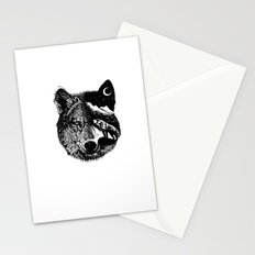 Night wolf Stationery Cards