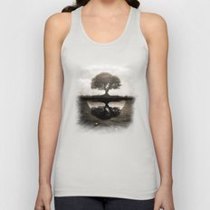The lone Night reflex Unisex Tank Top
