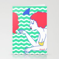 Pool Girl Stationery Cards