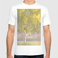 Birch 1 Mens Fitted Tee White SMALL