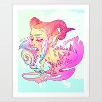 Jackie (Tenta-Lolli 4) Art Print