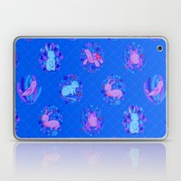 Picnic Pals animals in blueberry Laptop & iPad Skin