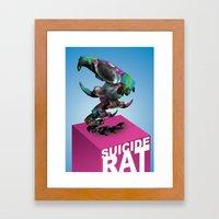 Suicide rat Framed Art Print
