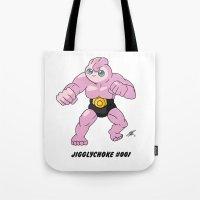 Jigglychoke #001 (text) Tote Bag