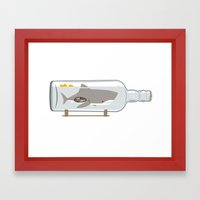 The Shark In A Bottle Framed Art Print