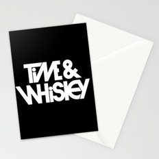 Time & Whiskey Stationery Cards