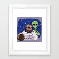 Space Love Framed Art Print