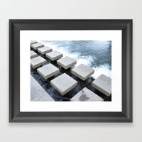 Stepping Stone Framed Art Print