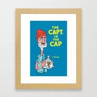 The Capt. In The Cap Framed Art Print