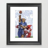 Wildcats versus Cardinals Framed Art Print
