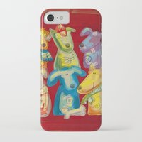 dogs iPhone & iPod Cases featuring Dogs by Catru