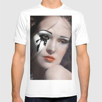 Exposed Mens Fitted Tee White SMALL