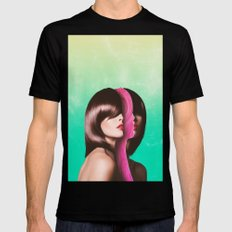 Split Hairs SMALL Black Mens Fitted Tee