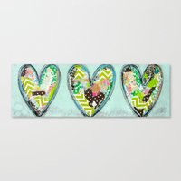 Do small things with great love. Canvas Print