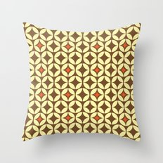 Repeated Retro - brown Throw Pillow