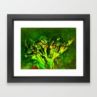 Thistle And Weeds Framed Art Print