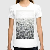 LA MER Womens Fitted Tee White SMALL