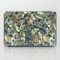 Lucha Pattern(blue&orange) iPad Case