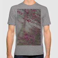 pink flowers  Mens Fitted Tee Athletic Grey SMALL