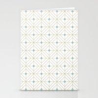 Mint Diamonds Stationery Cards