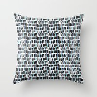 Little Lines Throw Pillow
