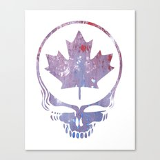 Canadian Steal Your Face (variation #3) Canvas Print