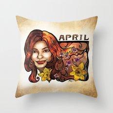 Brenda of April Throw Pillow