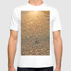 Light White SMALL Mens Fitted Tee