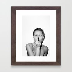 Miley. Framed Art Print