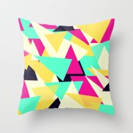Triangles Splash Throw Pillow
