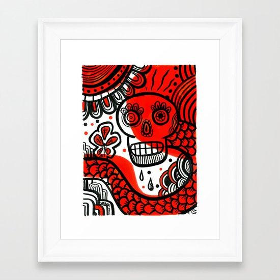 Voodoo Bleassing Snake Framed Art Print